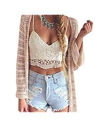 Tenworld Women Crochet Tank Camisole Lace Vest Blouse Bralette Bra Crop Tops