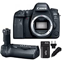 Canon EOS 6D Mark II DSLR Camera (Body Only) & Canon BG-E21 Battery Grip + Additional Battery and Charger