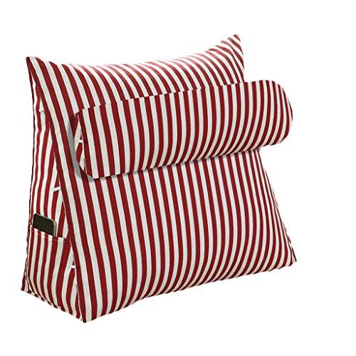 Rouge 454520CM ZWL Coussin multifonctionnel Coussin Sofa Triangle 45  45  20CM, 60  50  20CM Bureau Lumbar Back Pad Lit Oreiller Sofa Coussin de taille Dossier mode z (Couleur   Rouge, taille   45  45  20CM)