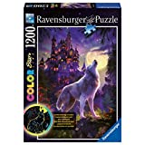 Ravensburger Moon Wolf Color Starline Glow-In-The-Dark Puzzle (1200-Piece)