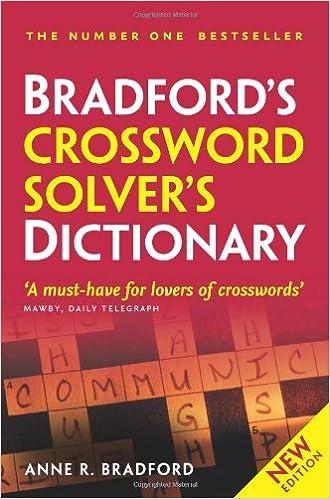 Collins Bradford S Crossword Solver S Dictionary Bradford Anne R 9780007362578 Amazon Com Books