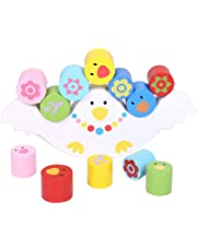 YeahiBaby Wooden Stacking Building Blocks Toddlers Balancing Toys Balancing Games Playset Educational Toys for Kids Children