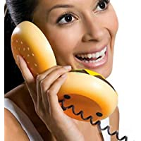 lilyy® Geek Hamburger Burger Cheeseburger Telephone Home Desktop Corded Phone