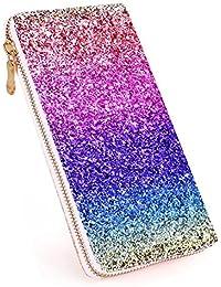 b86da0f19544c Glitter Wallet for Women Shiny Handbag Long Purse Elegant Clutch