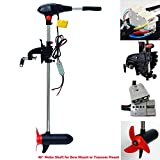 Seamax 90 Pound Thrust 24V Trolling Motor with 40 Inches Shaft Salt Water Heavy Duty Version