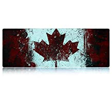 LIEBIRD Vintage Style CA/Canada Flag Mouse Mat Extended Xxxl Gaming Mouse Pad 31.5Lx11.8W