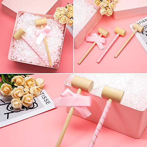 Mini Wooden Crab Lobster Seafood Hammers Mallet Solid Natural Hardwood Crab Hammer Crab Mallets Hammers Martillo De Madera for Cracking Chocolate (58)