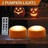 HOME MOST Halloween Pumpkin Lights Remote Timers - Orange...