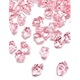DomeStar Acrylic Ice Cubes, Crystals, Gems Vase Fillers, 150 Pcs, Pink, Best Ideal Christmas Gift
