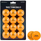 PRO SPIN Ping Pong Balls - 12-Pack - 3-Star Table Tennis Balls - for All Levels, Indoor and Outdoor Tables & Games - Professional Grade 40+ (40mm) ITTF Regulated Size - Adults, Kids (Orange)
