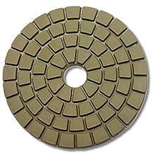 "5"" White Buff Pads for Granite Polishing & Glazing/ Final Buffing Pads marble it fits toolsmart secco hardin dewalt DAMO wet polisher"