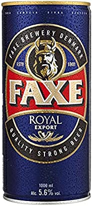 Cerveja Faxe, Royal, Lata, 1L 1un