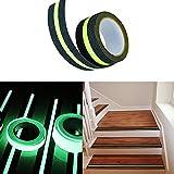 MAARYEE Anti Slip Safety Tape Adhesive for Stairs Glow in Dark Indoor or Outdoor Floor Tread Step 2'' x 16.4'