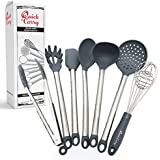 "Quick & Carry, Silicone Utensil Set for""instant Pot"" Electric Pressure Cookers, Long Handled, 7 Piece Set"