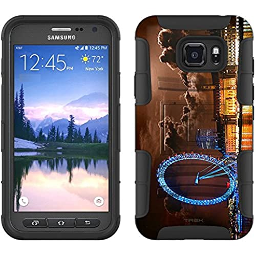 Samsung Galaxy S7 Active Armor Hybrid Case London Ferris Wheel Night 2 Piece Case with Holster for Samsung Galaxy S7 Active Sales