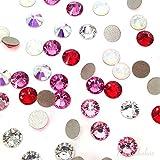 144 pcs (1 gross) Swarovski 2058 Xilion / 2088 Xirius crystal flat backs No-Hotfix rhinestones nail art VALENTINE'S Colors Mix ss5 (1.8mm) **FREE Shipping from Mychobos (Crystal-Wholesale)**