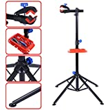 "S AFSTAR Safstar Pro Mechanic Bike Repair Stand Adjustable 41"" to 75"" Cycle Rack Bicycle Workstand Tool Tray"