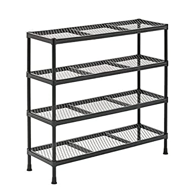 Sandusky CSR311031 Gray Combination Wire Shelving Unit, 4 Shelves, 31  Height x 31  Width x 11  Depth