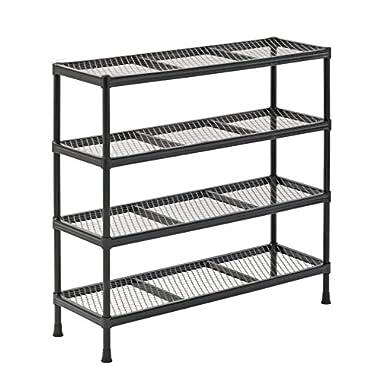 Sandusky CSR311031 Gray Combination Wire Shelving Unit, 4 Shelves, 31  Height x 31  Width x 11  Depth