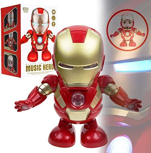 Dancing Iron Man Robot Musical Toy with Lights and Music (Avenger Iron Man)