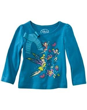 Little Girls' Fairies Infant and Toddler Girls Long Sleeve Shirt