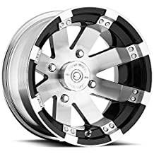 "Vision 158 Buckshot Gloss Black Wheel with Painted Finish (12x7""/4x156mm)"