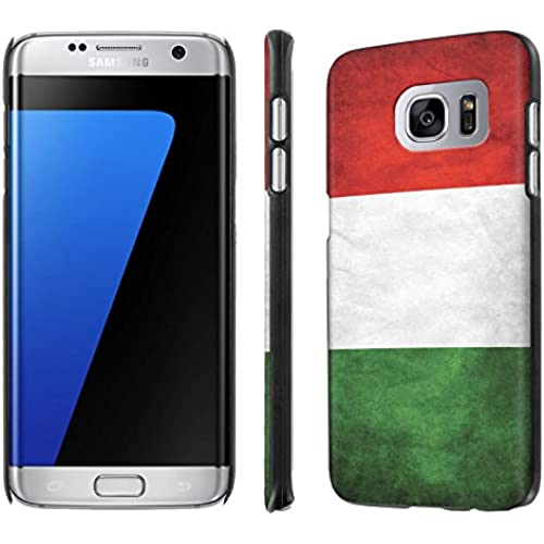 Galaxy [S7 Edge] [5.5 Screen] Phone Case [NakedShield] [Black] Ultra-Slim Jacket Cover Case - [Flag Italy] for Samsung Galaxy [S7 Edge] [GS7 Edge] Sales