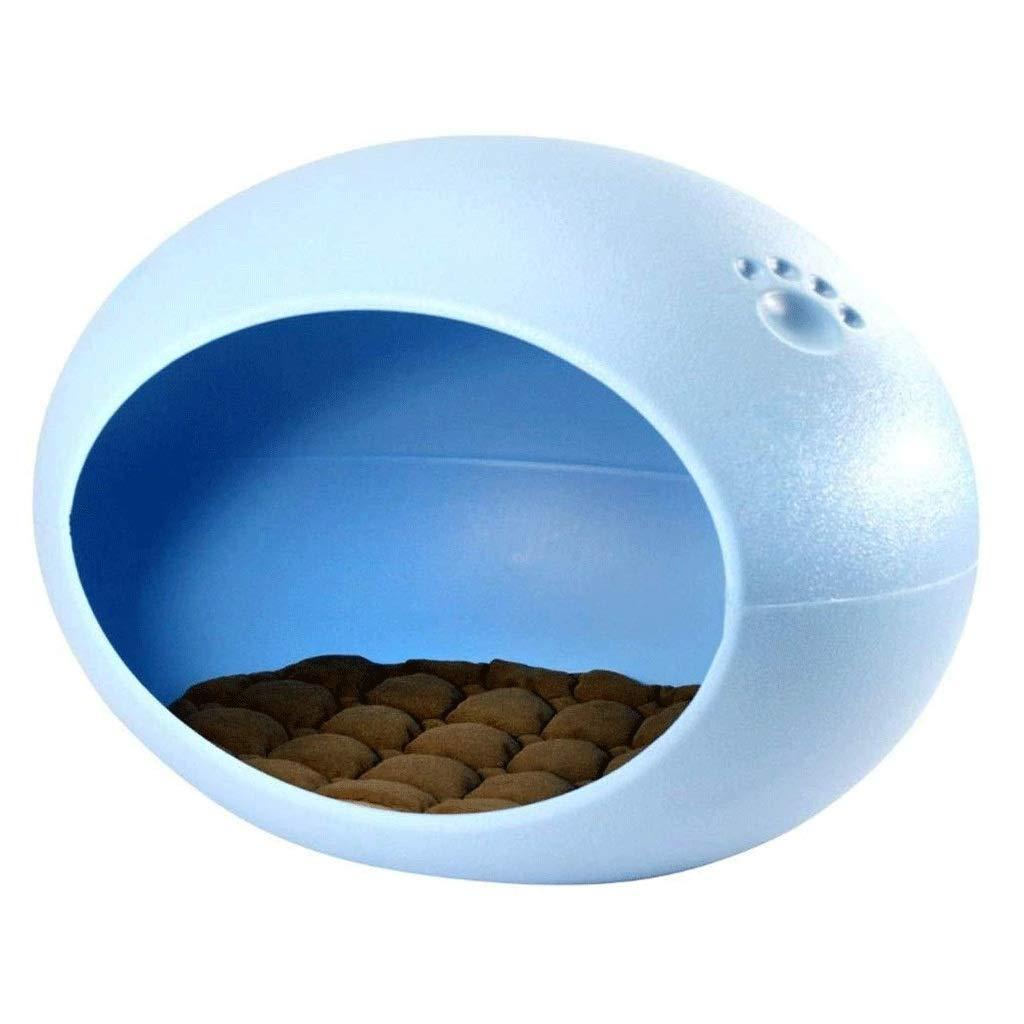 CDDJ ペットの巣、ベッドルームに適しオーバル卵型の巣、小型犬のハウス、リビングルーム、フォーシーズンズユニバーサル (Color : 青) 青