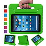 Fire 7 2015 Case,Fire 7 2017 Case,Grand Sky Super Light Weight Shock Proof Handle Protective Stand Kids Case for Fire 7 inch Display Tablet (5th Gen-2015 Release & 7th Gen-2017 Release) (Grass)