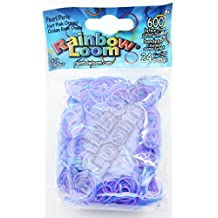 RAINBOW LOOM Pearl Hot Pink/Ocean Rubber Bands with 24 C-Clips (600 Count)