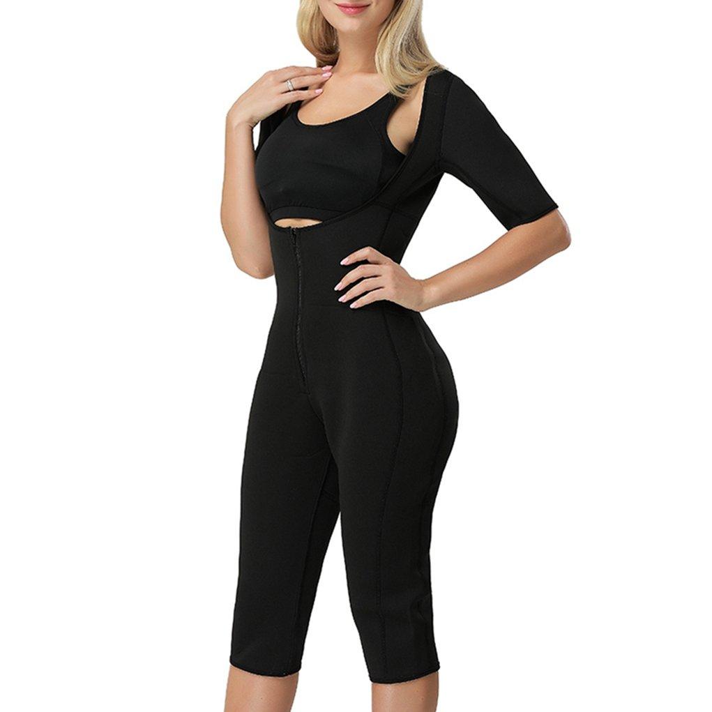 Women Body Shaper Sweat Bodysuit Sleeve Shapewear Slimming Suit Weight Loss Gym Sport Aerobic Boxing