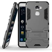 LeEco Le Pro 3 Case, CoverON [Shadow Armor Series] Hard Slim Hybrid Kickstand Phone Cover Case for LeEco Le Pro 3 - Gray