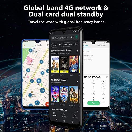 "OUKITEL K9 Unlocked Cell Phones 7.12"" FHD+ Water Drop Screen 4GB RAM+64GB ROM,16MP+8MP Dual Camera, 6000mAh Battery 4G Android 9.0 Unlocked Smartphones, Dual SIM Smartphone Support OTG (Blue) (Renewed)"