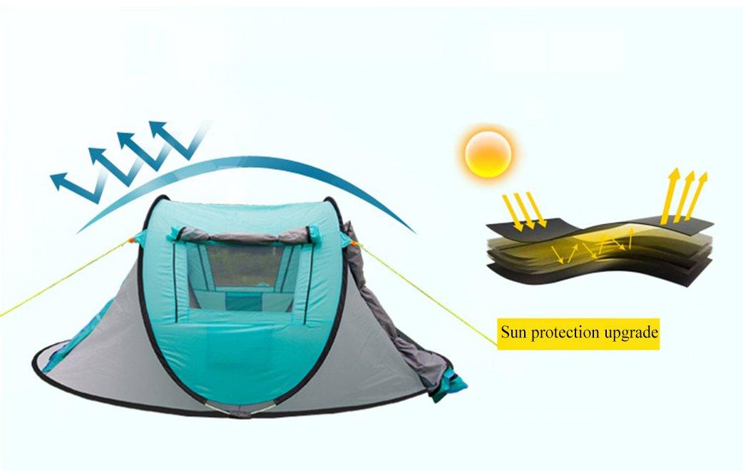 Cradifisho Zelt mit 3-4 Großem Stauraum für 3-4 mit Personen, Campingzelt auf der Feld, 1 Zelt b2ceb4