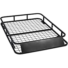 Universal Roof Rack for Truck (Cargo Car Top Luggage Carrier Basket Traveling SUV Holder)