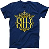 Dilly Dilly Gold Crown Logo T-Shirt Navy XL