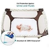 Biloban Waterproof Crib Mattress Pad Cover for Pack