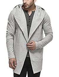 Men's Cotton Blend Hooded Cardigan