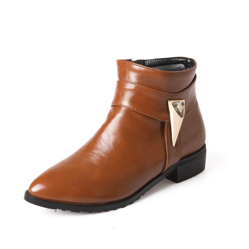 Winter warme Damenschuhe Kurze Stiefel flach mit niedrigem Absatz Damenstiefel