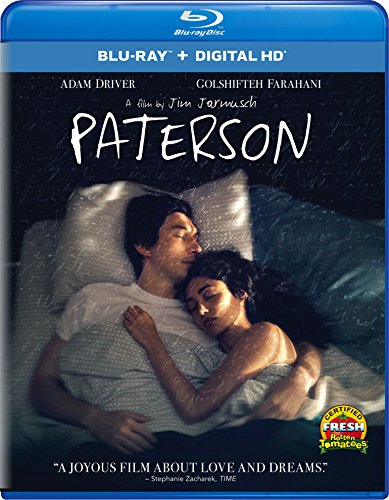 Blu-ray : Paterson (Ultraviolet Digital Copy, Snap Case, Digitally Mastered in HD, Slipsleeve Packaging, Digital Copy)
