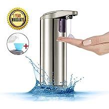 Automatic Soap Dispenser, Evantek Touchless Hand Sanitizer Dispenser, IR Infrared Motion Sensor Hand Free Liquid Dish Soap for Kitchen and Bathroom (NEWEST VERSION)