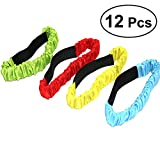TOYMYTOY 3 Legged Race Bands 12 Pack Durable Three Legged Race Bands Firm Soft Elastic Colorful 3 Leg Race Band for Kids Adult Outdoor Fun