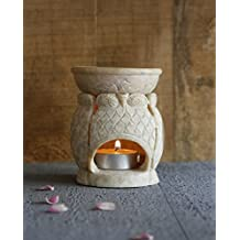 Owl Essential Oil Burner Warmer Votive Tea Light Holder Aroma Diffuser with Natural Soapstone Home Fragrance Accessories