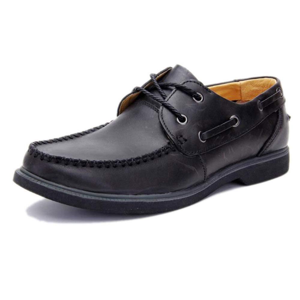 GZZ Schuhe Herren Herren Herren Martin Stiefel Retro Persönlichkeit Outdoor Lederwaren Lederschuhe Herbst Und Winter Rutschfeste,schwarz-40 17cdc0