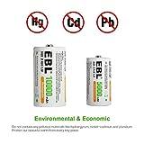 EBL C Batteries High Energy 5000mAh Ready2Use C