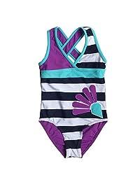 BAOHULU Girls Lovely Stripe One-piece Swimsuit 3-12 Years
