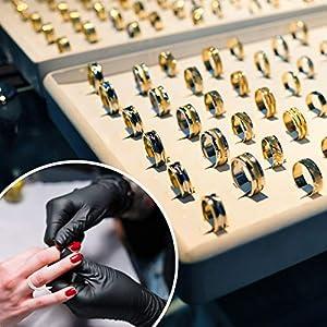 Desvoy 2PCS Plastic Ring Sizer Measuring Tool US White/UK Black Finger Measurer for Women/Men and Kids (Color: Black, White)