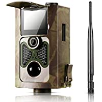 [2017 New] Ancheer Trail Camera 12-16MP Wildlife Game Camera 2.4 Inch LCD 1080P HD No Glow Infrared Night Vision up to 65ft IP66 Waterproof,Wide Angle,0.4s Trigger Time with Time Lapse
