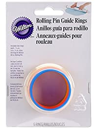 Purchase Bulk Buy: Wilton Fondant & Gum Paste Rolling Pin Guide Rings W9071010 (3-Pack) dispense