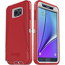 OtterBox DEFENDER SERIES Case and Holster for Samsung Galaxy NOTE 5 - Retail Packaging - Scarlet Red/Whisper White